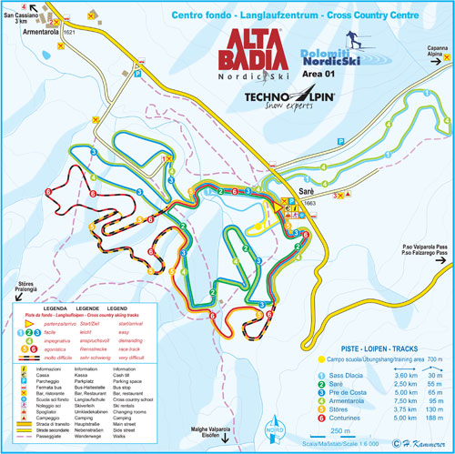 Cross-country-skiing langlaufarmentarolo