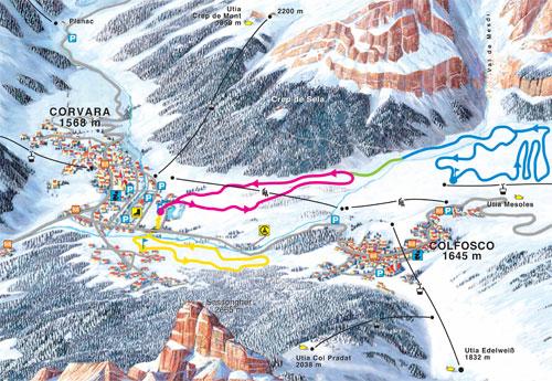 Cross-country-skiing langlaufcorvara