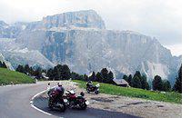 Motorradfahren Alta Badia für Bikers passo sella 02
