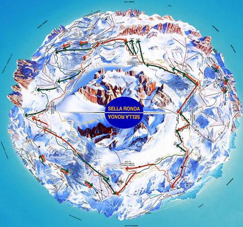 Ski Alpin sellaronda mappa